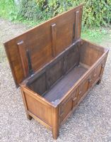 Antique Style Oak Panelled Blanket Chest
